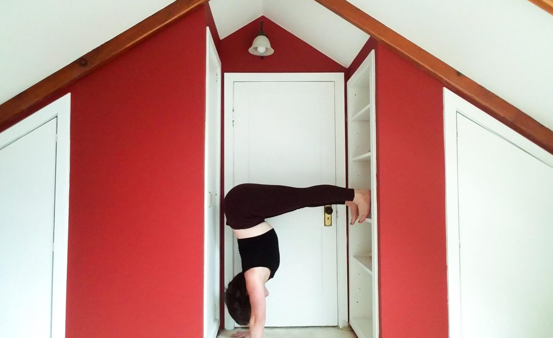 yoga practice at home