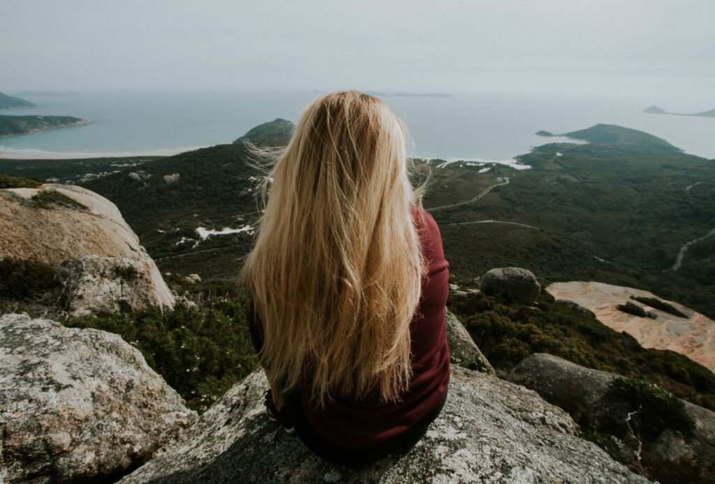 introvert on mountain